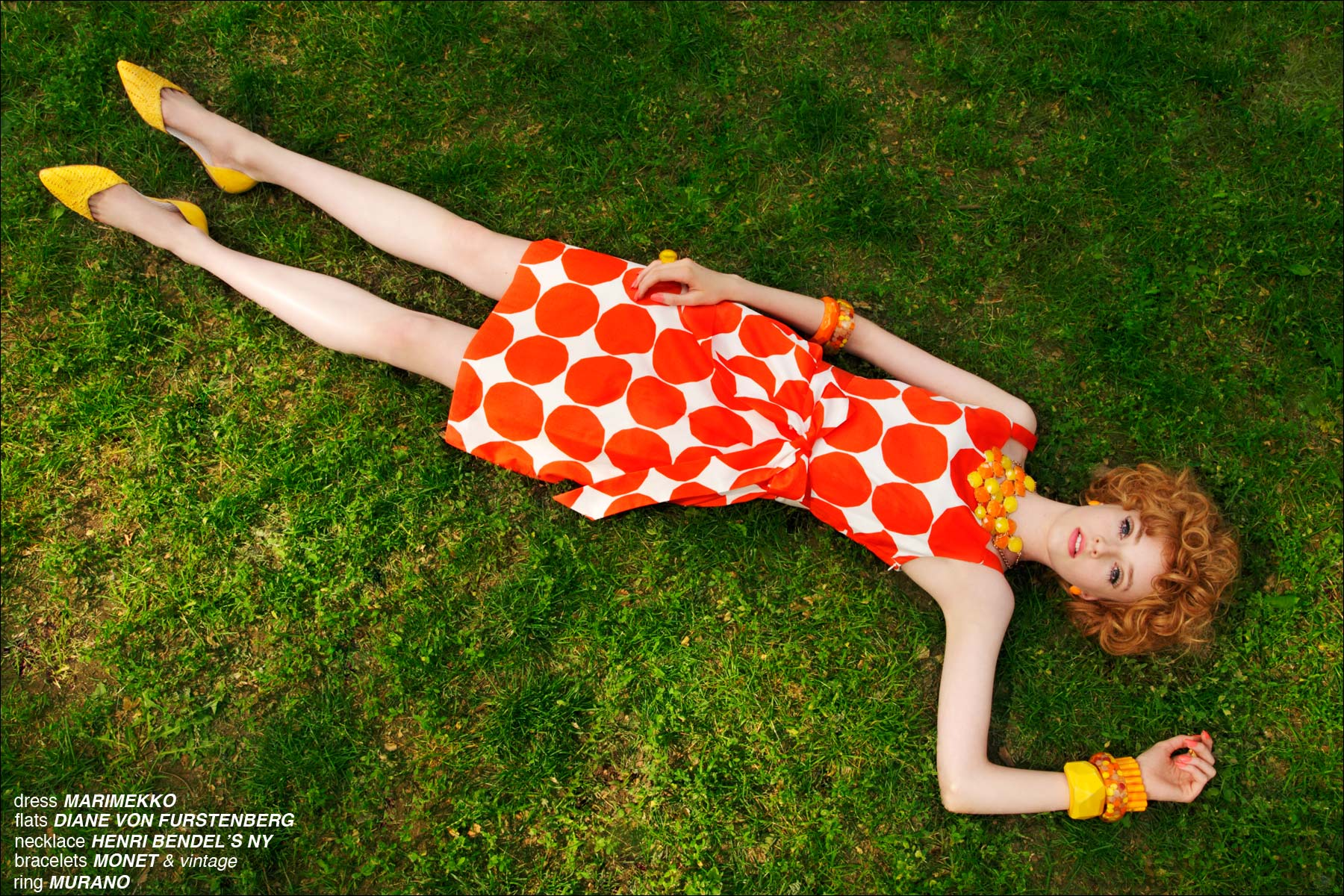 A 1960's inspired editorial exclusively using Marimekko clothing, photographed by Alexander Thompson for Ponyboy Magazine.
