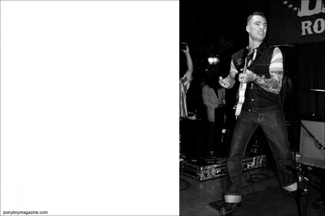 Guitar playing rockabilly musician Pat Capocci, photographed at Tom Ingram's Viva Las Vegas by Alexander Thompson for Ponyboy Magazine.