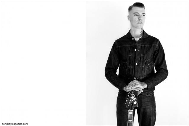 Portrait of Australian rockabilly musician Pat Capocci by Alexander Thompson for Ponyboy Magazine.