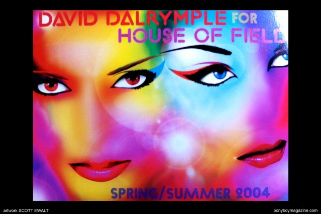Artwork by Scott Ewalt for David Dalrymple for House of Field Spring/Summer 2004. Ponyboy Magazine.
