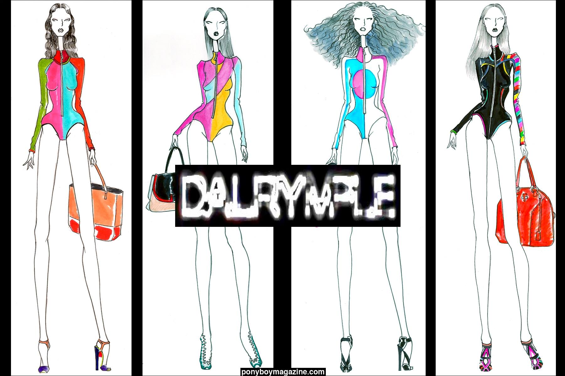 Sketches for David Dalrymple designs. Ponyboy Magazine.