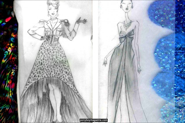 Sketches and swatches by David Dalrymple. Ponyboy Magazine.