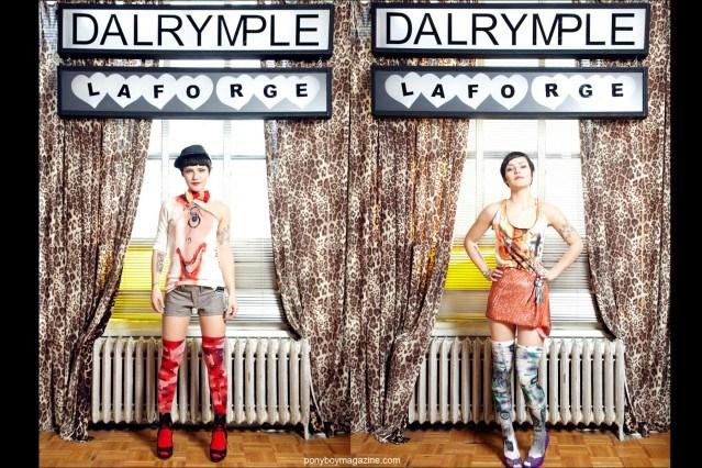 Clothing designer's David Dalrymple & Scooter Laforge Look book images. Ponyboy Magazine.