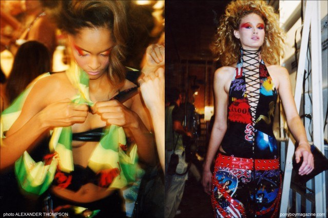 Models backstage at the David Dalrymple for Field fashion show in New York City. Photographs by Alexander Thompson. Ponyboy Magazine.