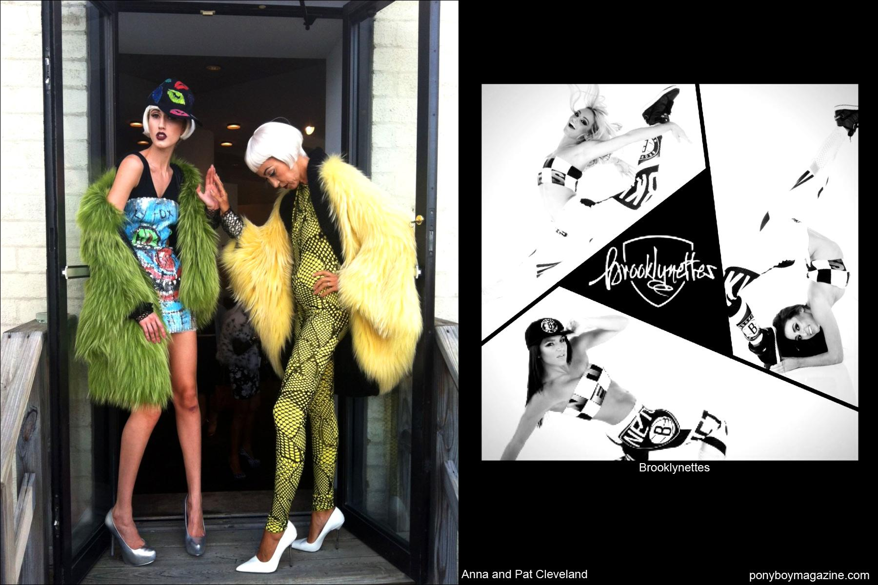 Mother and daughter models Anna and Pat Cleveland in David Dalrymple creations, as well as the Brooklynettes. Ponyboy Magazine.