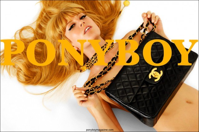 Alix Brown with Chanel accessories. Photographed by Alexander Thompson for Ponyboy Magazine.