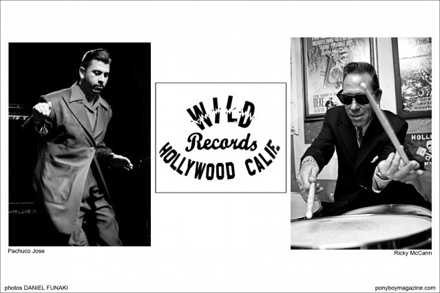 Rockabilly musicians Pachuco Jose and Ricky McCann on the Wild Records form Hollywood Calif. Ponyboy Magazine