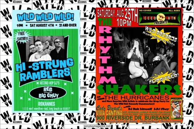 Flyers for Hi-Strung Ramblers and the The Rhythm Shakers. Ponyboy Magazine.