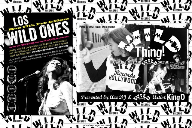 Flyers for Wild Records events. Ponyboy Magazine.