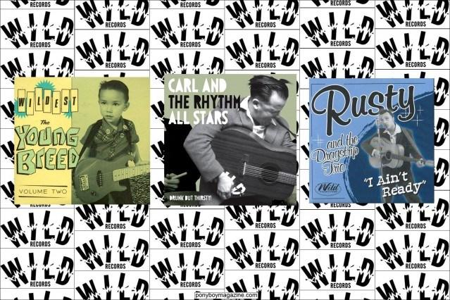 Wild Records album covers. Ponyboy Magazine.