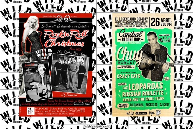 Flyer with Wild Records performers Jake Allen, The Delta Bombers & Chuy Bobcat. Ponyboy Magazine.