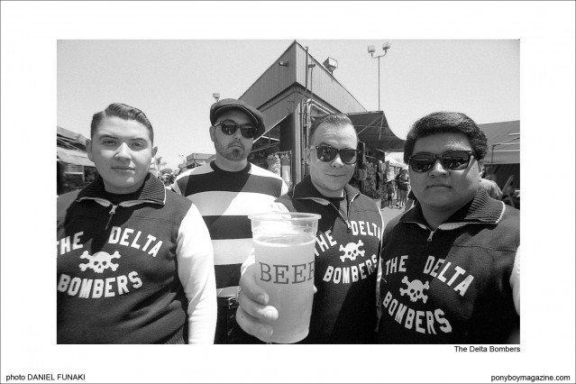 The Delta Bombers on the Wild Records label, photographed by Daniel Funaki. Ponyboy Magazine.
