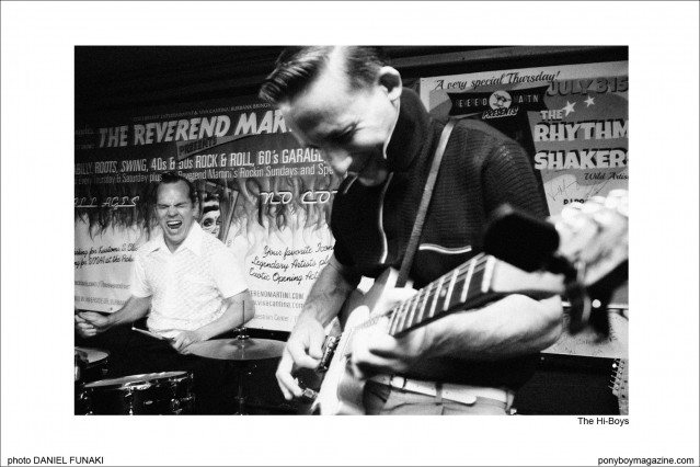 Rockabilly band The Hi-Boys, photographed by Daniel Funaki. Ponyboy Magazine.