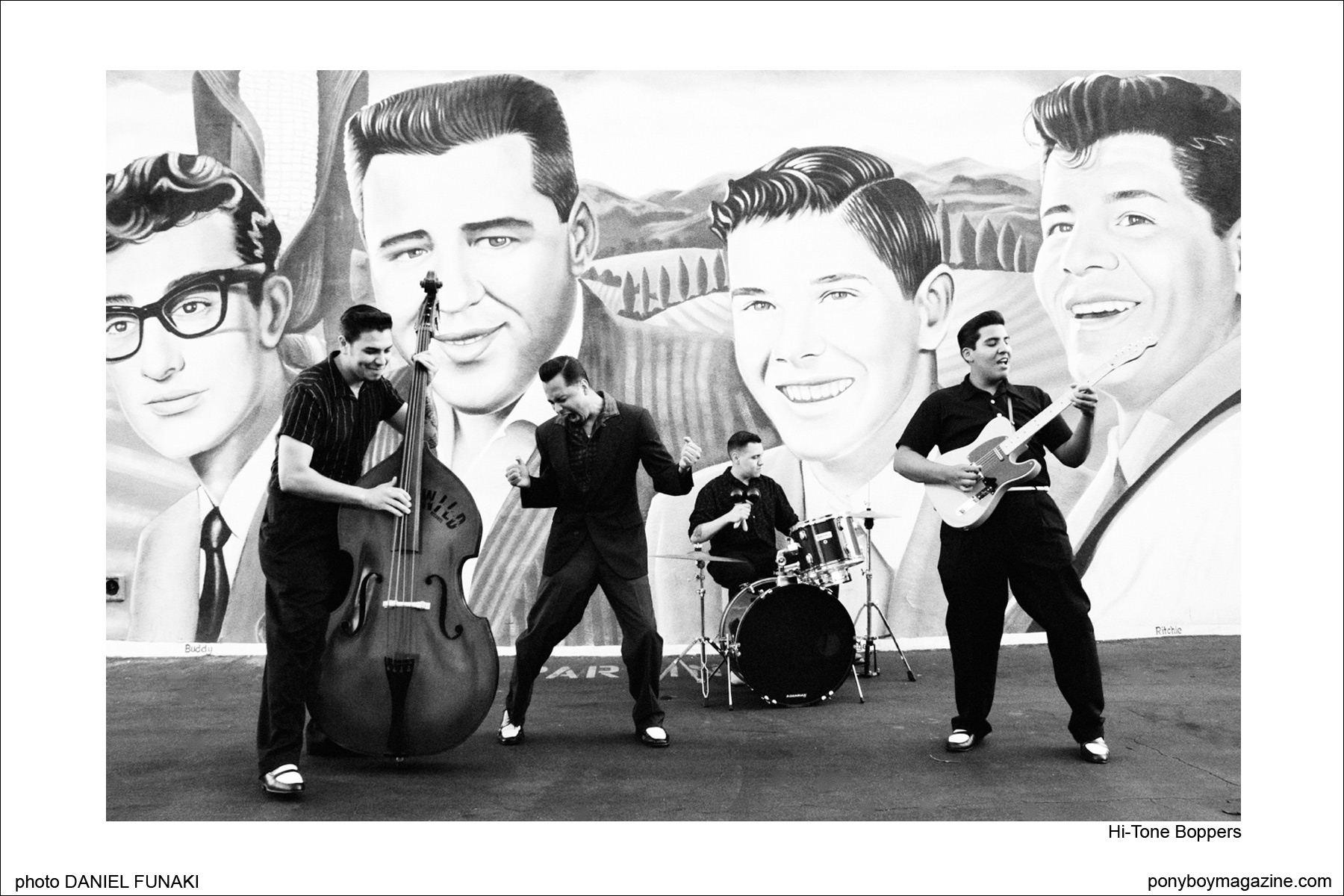 Rockabilly band Hi-Tone Boppers on The Wild Records label. Image by Daniel Funaki, Ponyboy Magazine.