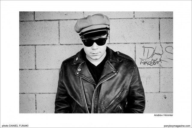 Wild records rockabilly musician Andrew Himmler, photographed by Daniel Funaki. Ponyboy Magazine.