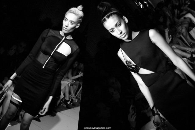 Models wear cut-out dresses designed by Chromat, Spring/Summer 2015. Photos by Alexander Thompson for Ponyboy Magazine.