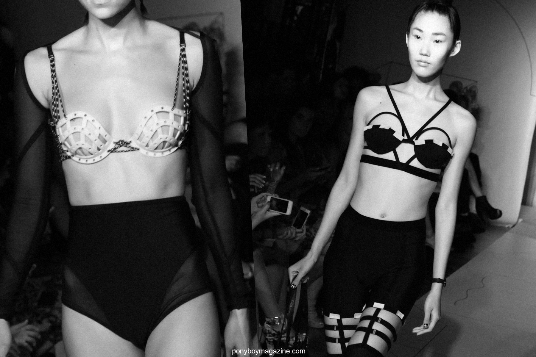 Cut-out lingerie at Chromat S/S15. Photographed by Alexander Thompson at The Standard for Ponyboy Magazine.