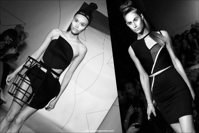 Edgy cut-out dresses on the runway at the Spring/Summer 2015 fashion show for Chromat. Photos by Alexander Thompson for Ponyboy Magazine.