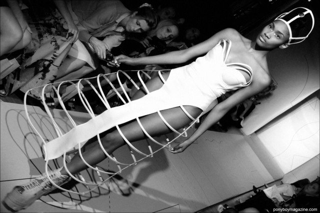 The bridal gown at the end of the Chromat Spring/Summer 2015 show, photographed in New York City by Alexander Thompson for Ponyboy Magazine.