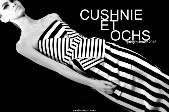 Cushnie et Ochs Spring/Summer 2015. Photographed by Alexander Thompson at Milk Studios NY for Ponyboy Magazine.