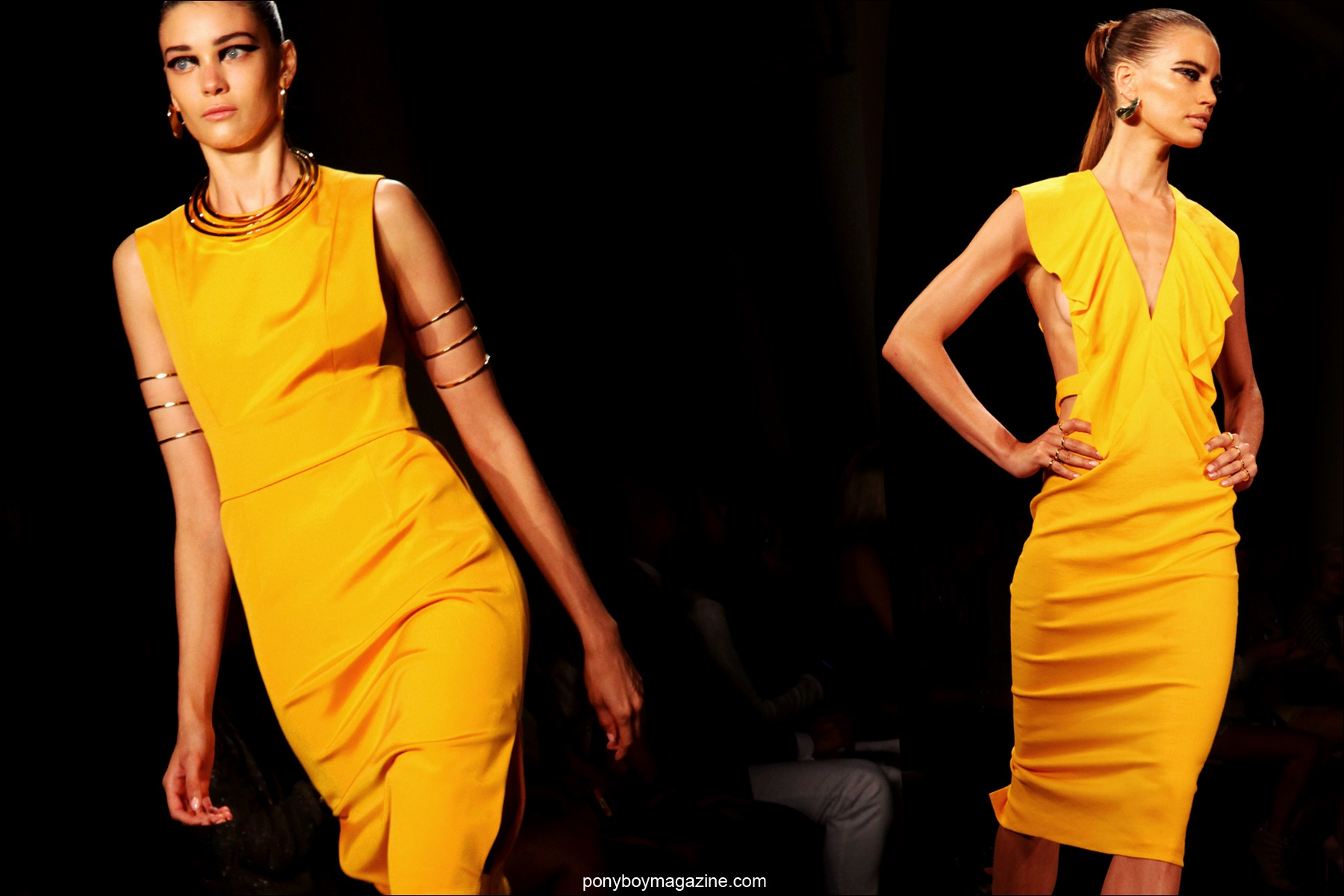 Models on the runway for Cushnie et Ochs S/S 2015. Photographed for Ponyboy Magazine by Alexander Thompson.