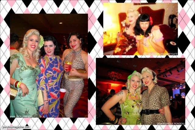 Photos of The Rockabilly Socialite with various girlfriends, Ponyboy Magazine.