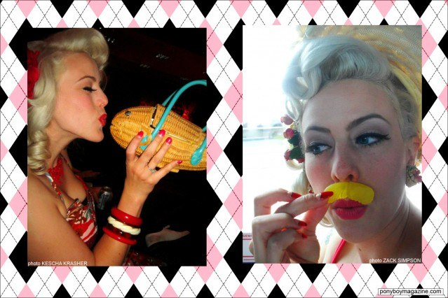 Photos of Miss Dollie Deville, also known as The Rockabilly Socialite. Ponyboy Magazine.
