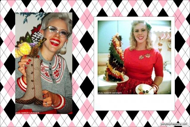 Holiday photos of The Rockabilly Socialite, MIss Dollie Deville. Ponyboy Magazine.