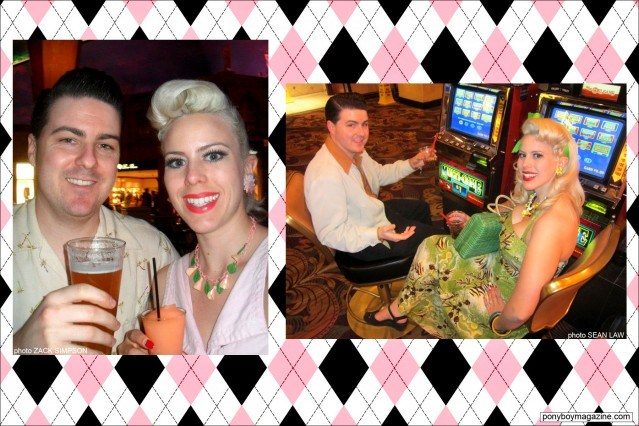 Dollie Deville, The Rockabilly Socialite, with husband Zack Simpson. Ponyboy Magazine.
