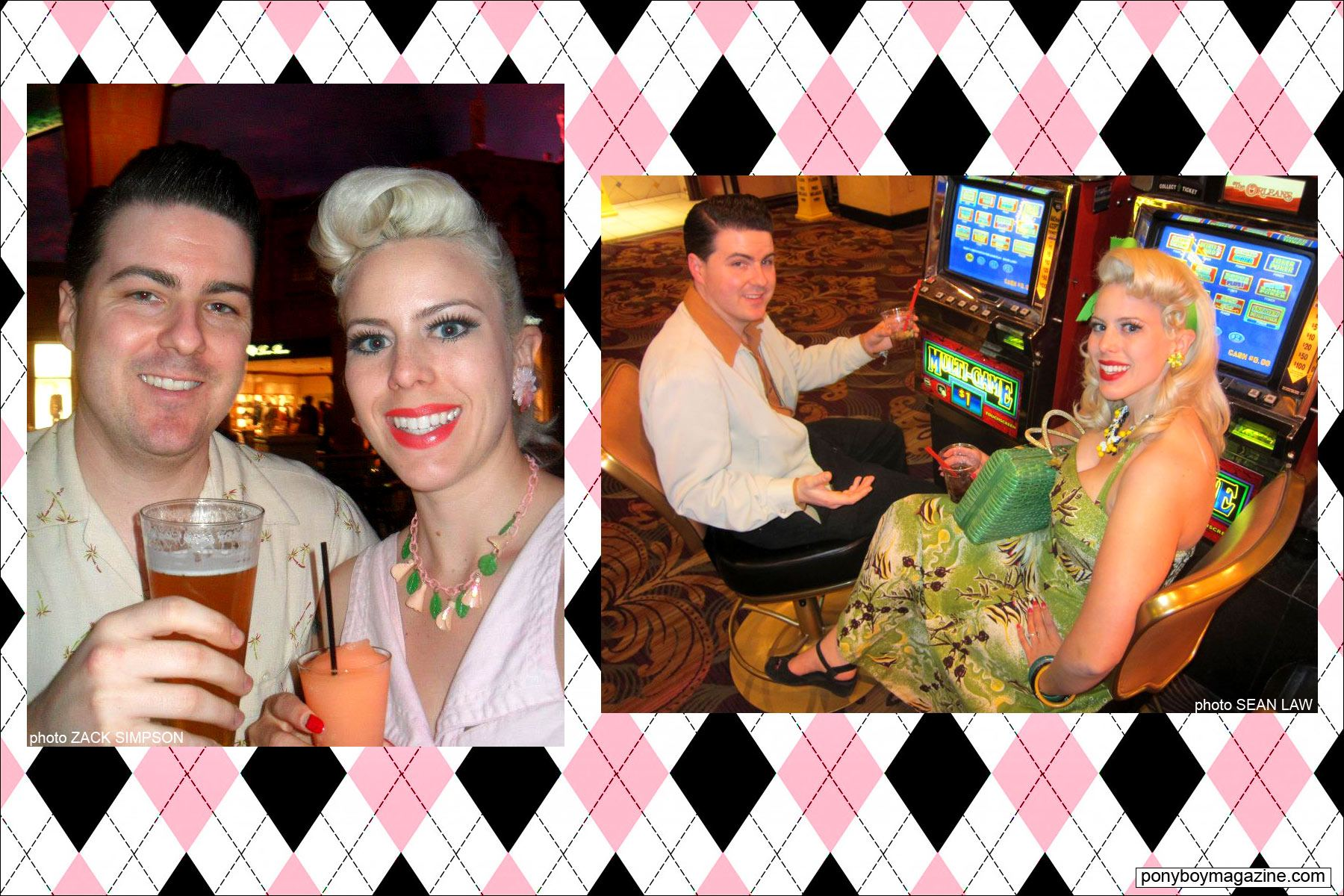 The Rockabilly Socialite, with her husband Zack Simpson. Ponyboy Magazine.
