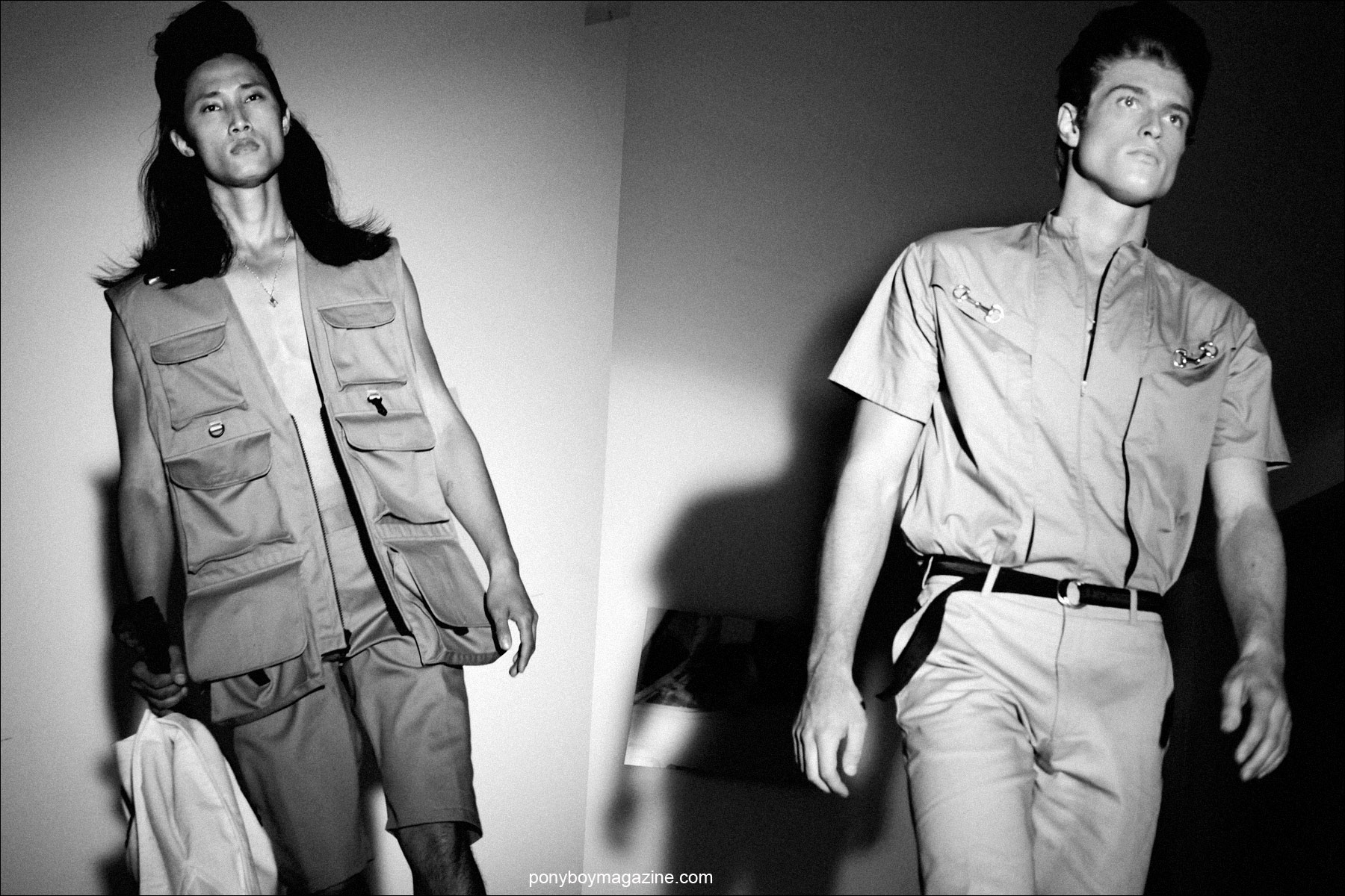 Male models in safari style clothing for Martin Keehn Spring/Summer 2015. Photographed by Alexander Thompson for Ponyboy Magazine.