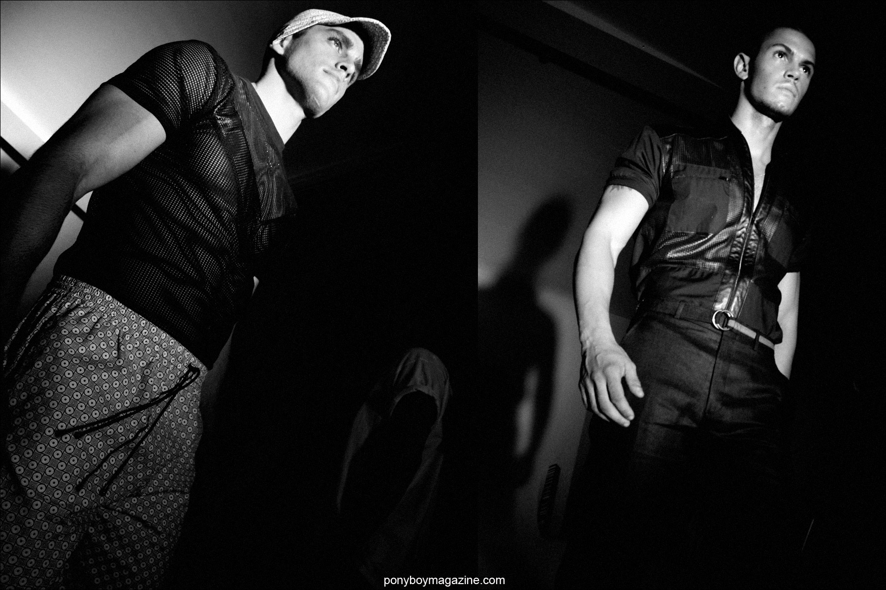 Male models on the runway for Martin Keehn S/S15. Photographs by Alexander Thompson for Ponyboy Magazine.