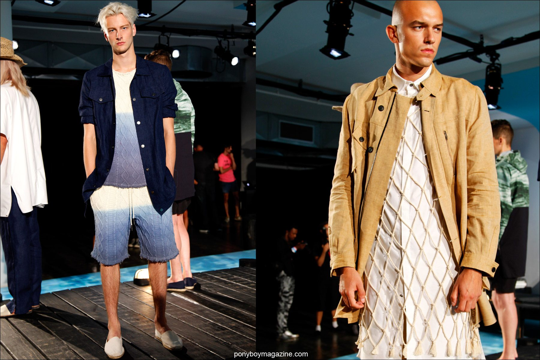 Models of the moment, Benjamin Jarvis and Adam Kaszewski photographed at Rochambeau S/S15 presentation in New York City. Photos by Alexander Thompson for Ponyboy Magazine.