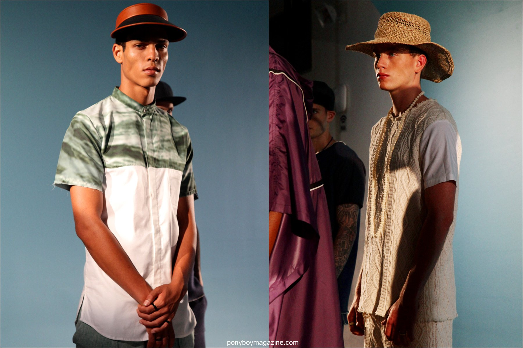 Models at Milk Studios for the Rochambeau Spring/Summer 2015 presentation. Imagess by Alexander Thompson for Ponyboy Magazine.