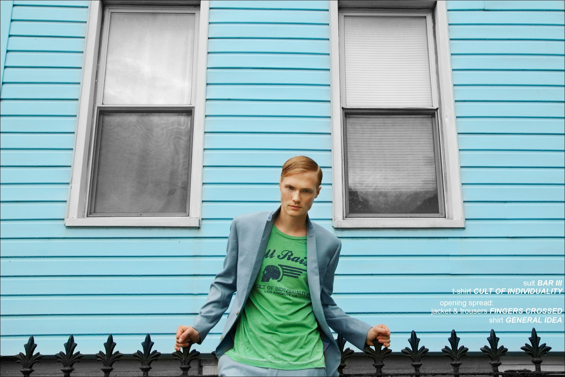 From Adam Models in New York, Justin Taylor photographed for Ponyboy Magazine editorial