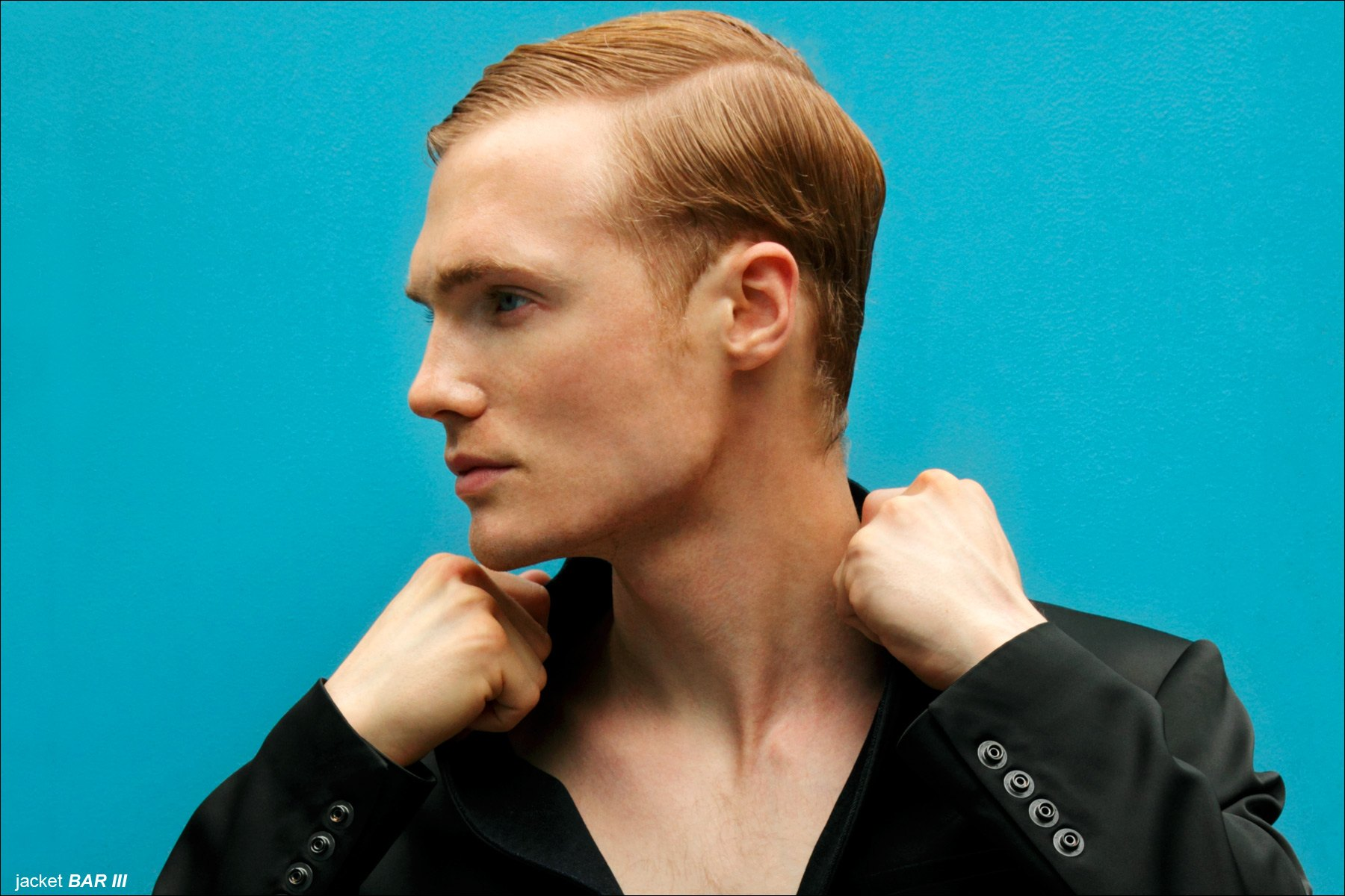 Model Justin Taylor, from Adam Models NY, photographed for Ponyboy Magazine menswear editorial