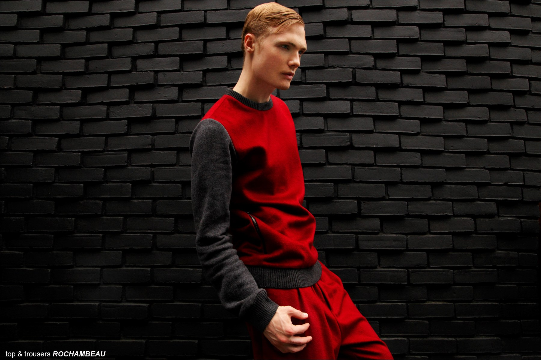 Male model Justin Taylor photographed in Rochambeau menswear for Ponyboy Magazine editorial