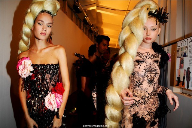 Models gets ready to change backstage at The Blonds S/S15 show at Milk Studios in New York. Photographed by Alexander Thompson for Ponyboy Magazine.