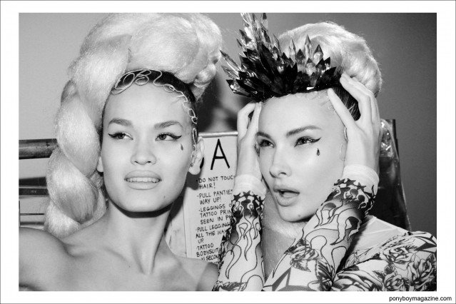 Backstage at The Blonds, S/S15. Photograph by Alexander Thompson at Milk Studios, for Ponyboy Magazine.