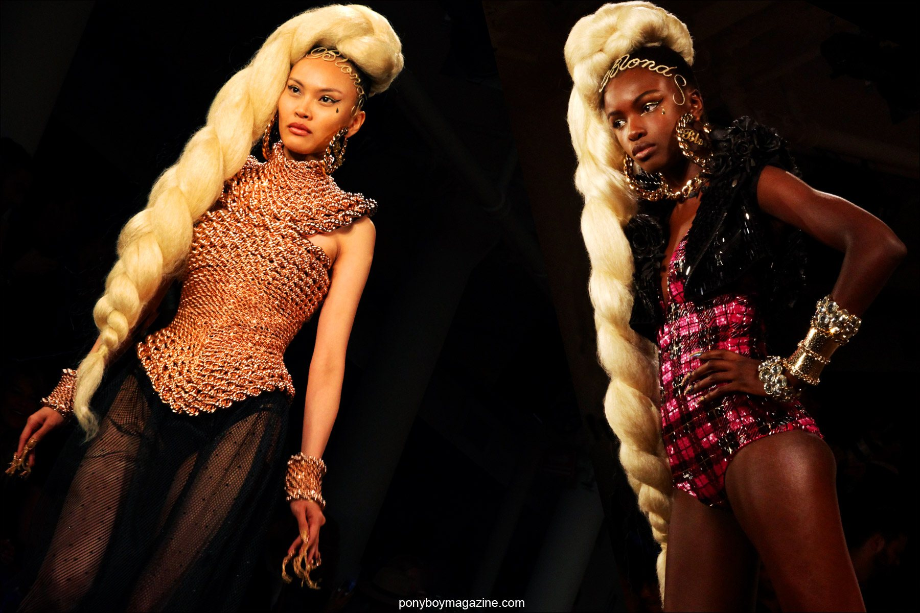 Over-the-top creations by The Blonds Spring/Summer 2015 collection. Photographed at New York's Milk Studios by Alexander Thompson for Ponyboy Magazine.