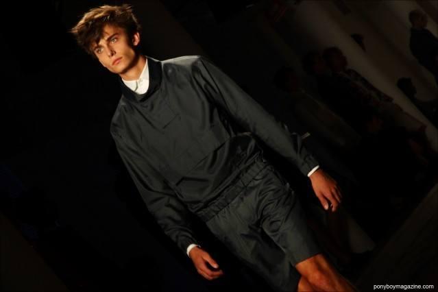 Male model Kyle Mobus walks the runway for Patrik Ervell S/S15. Photograph by Alexander Thompson for Ponyboy Magazine.