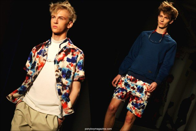 Top male models Dominik Sadoch and Dominik Hahn walk the runway for Patrik Ervell Spring/Summer 2015 collection at Milk Studios NY. Photographs by Alexander Thompson for Ponyboy Magazine.