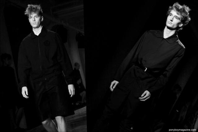 Male model Luke Gernert walks the runway for Patrik Ervell S/S15. Photographs by Alexander Thompson for Ponyboy Magazine.