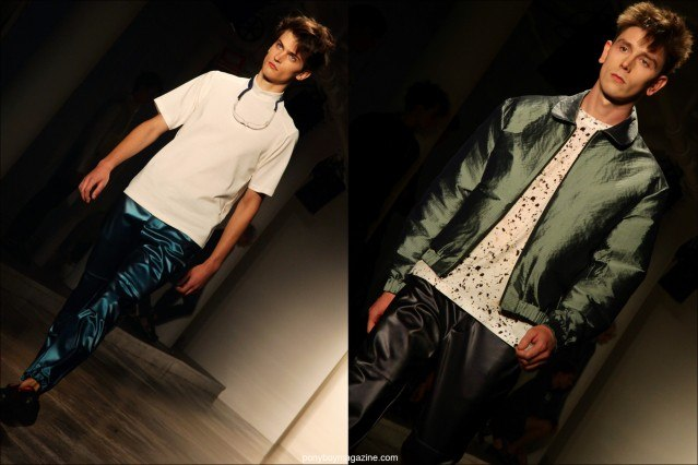Male model David Metcalfe walks the runway for Patrik Ervell S/S15. Photographs by Alexander Thompson for Ponyboy Magazine.