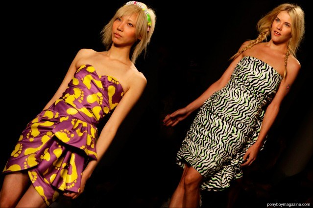 Soo Joo Park on the runway for Jeremy Scott Spring/Summer 2015 collection at Milk Studios in New York City. Photographs by Alexander Thompson for Ponyboy Magazine.