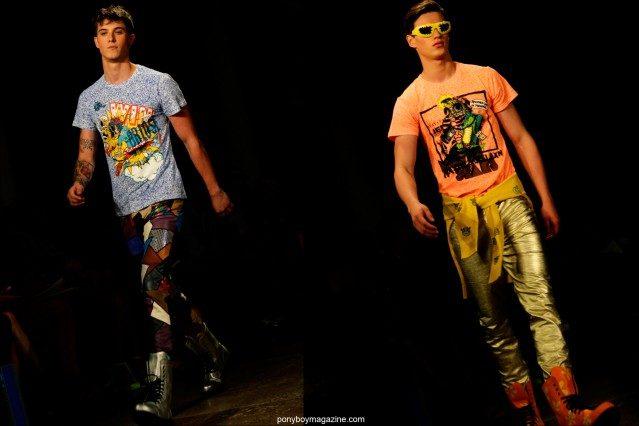 Male models walk for Jeremy Scott Spring/Summer 2015 at Milk Studios in New York City. Photographs by Alexander Thompson for Ponyboy Magazine.