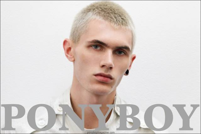 UK model Sean Semmens, photographed backstage at Duckie Brown S/S15 by Alexander Thompson for Ponyboy Magazine.