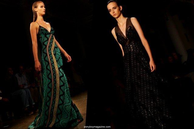 Gowns from Sophie Theallet Spring/Summer 2015 runway show in New York City. Photographs by Alexander Thompson for Ponyboy Magazine.