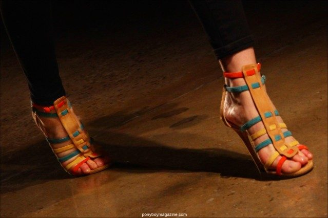 Sophie Theallet shoe collaboration with designer Jean Michel Cazabat, shown on the runway for Spring/Summer 2015. Photograph by Alexander Thompson for Ponyboy Magazine.