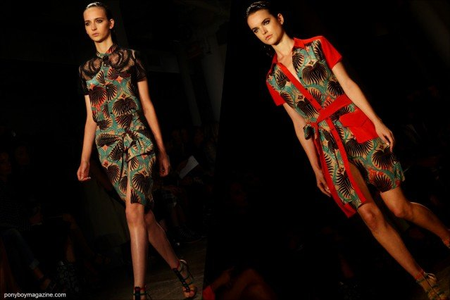 Models in vivid prints, on the runway for Sophie Theallet Spring/Summer 2015 collection in New York. Photographs by Alexander Thompson for Ponyboy Magazine.